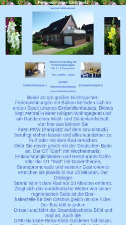 Vorschau der mobilen Webseite www.karin-bartz.de, Ferienwohnungen Karin Bartz
