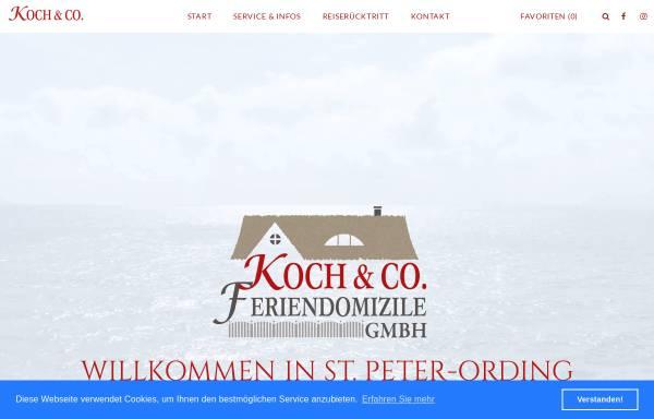 Vorschau von www.koch-spo.de, Koch & Co. Feriendomizile GmbH