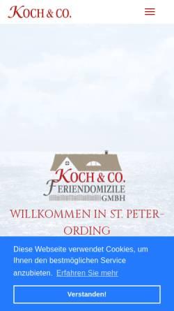 Vorschau der mobilen Webseite www.koch-spo.de, Koch & Co. Feriendomizile GmbH