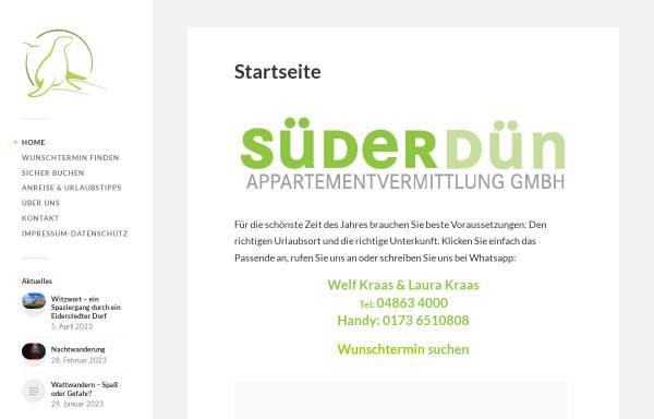 Vorschau von www.fewo-stpeter.de, Süderdün Appartementvermittlung GmbH
