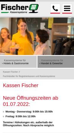Vorschau der mobilen Webseite www.kassen-fischer.de, Registrierkassen Egon Fischer oHG