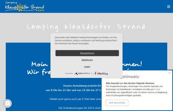 Vorschau von www.camping-klausdorferstrand.de, Campingplatz Kohlhoff am Klausdorfer Strand