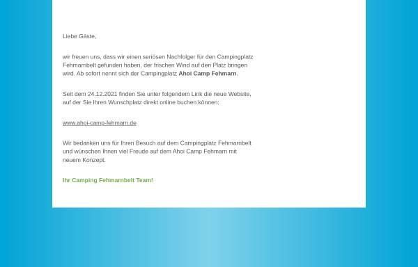 Vorschau von www.fehmarnbelt-camping.de, Camping Fehmarnbelt