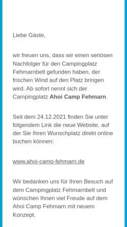Vorschau der mobilen Webseite www.fehmarnbelt-camping.de, Camping Fehmarnbelt