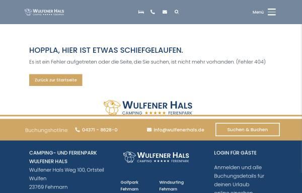 Vorschau von www.wulfenerhals.de, Camping Wulfener Hals