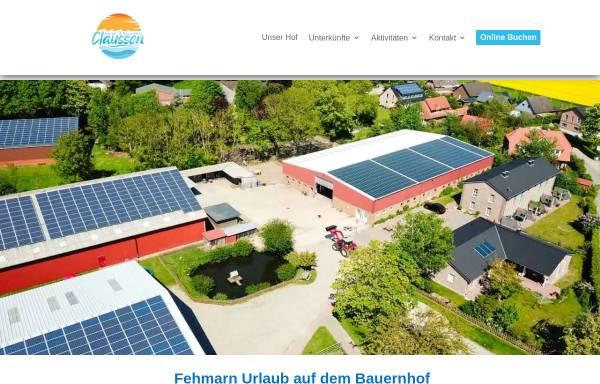 Vorschau von www.bauernhof-claussen.de, Bauernhof Claussen-Mackeprang
