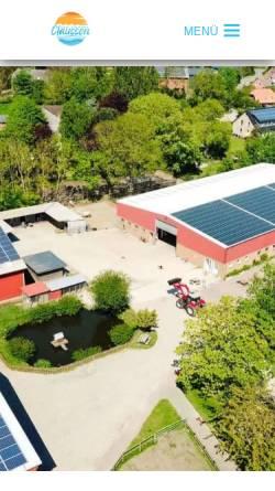 Vorschau der mobilen Webseite www.bauernhof-claussen.de, Bauernhof Claussen-Mackeprang