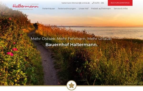 Vorschau von www.haltermann-fehmarn.de, Bauernhof Haltermann