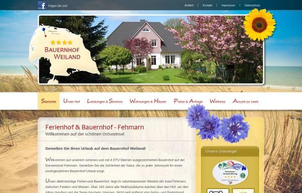 Vorschau von www.fehmarn-bauernhof.de, Bauernhof Weiland