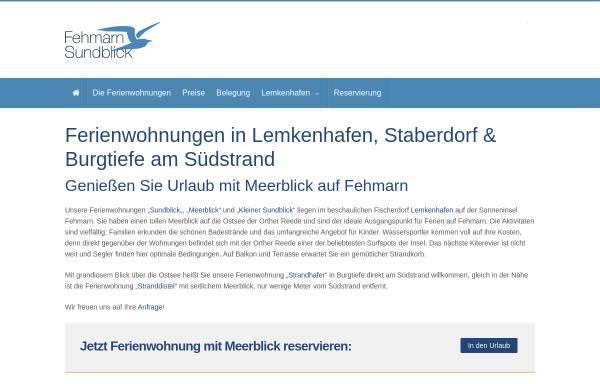 Vorschau von www.fehmarn-sundblick.de, Ferienwohnung Sundblick