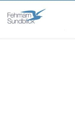 Vorschau der mobilen Webseite www.fehmarn-sundblick.de, Ferienwohnung Sundblick