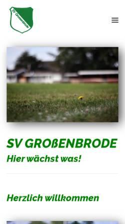 Vorschau der mobilen Webseite www.svgrossenbrode.de, SV Großenbrode