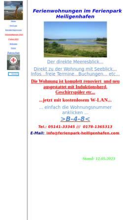 Vorschau der mobilen Webseite www.ferienpark-heiligenhafen.com, Ferienwohnung Droese
