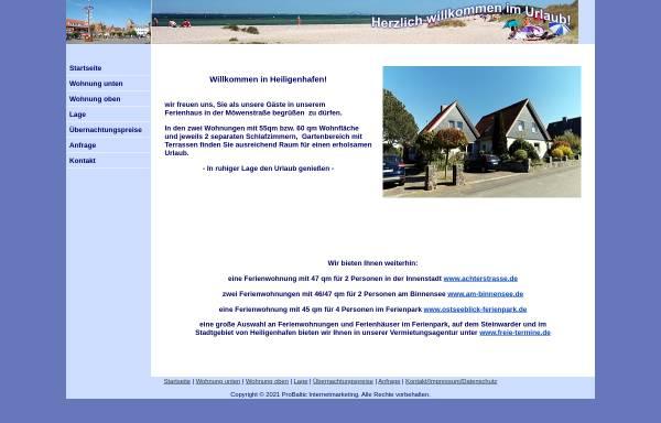 Vorschau von www.balticurlaub.de, Ferienwohnung Familie Rehse