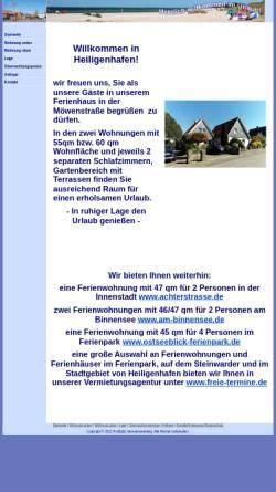 Vorschau der mobilen Webseite www.balticurlaub.de, Ferienwohnung Familie Rehse