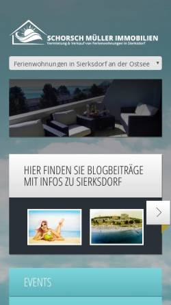 Vorschau der mobilen Webseite www.sierksdorf-traumblick.de, Schorsch Müller Immobilien