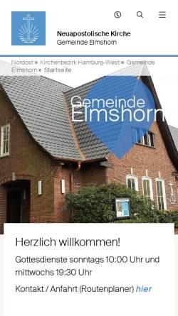 Vorschau der mobilen Webseite elmshorn.nak-nordost.de, Neuapostolische Kirche Elmshorn
