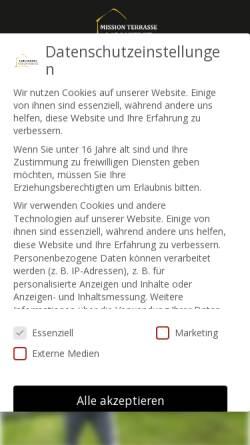 Vorschau der mobilen Webseite www.terrassendach24.de, C & L GmbH