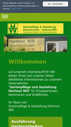 Vorschau der mobilen Webseite www.will-gartenbau.de, Gartenpflege Hartmut Will