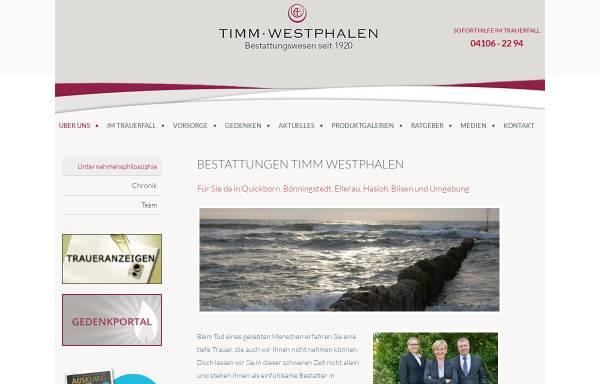 Vorschau von www.bestattungswesen-timm.de, Timm Westphalen - Bestattungswesen seit 1920