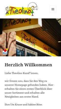 Vorschau der mobilen Webseite theolino-spiel.de, Willkommen bei Theolino