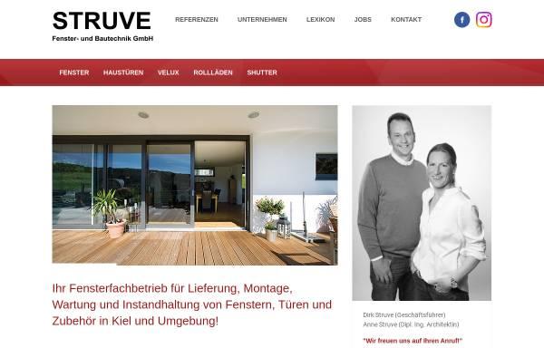 Vorschau von www.struvegmbh.de, Rolf Struve Fenster- u. Bautechnik GmbH