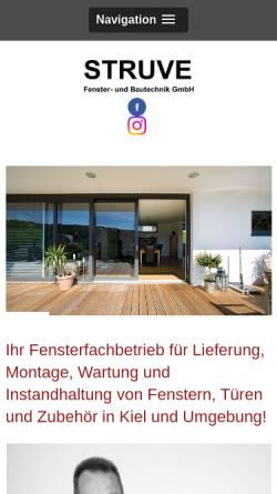 Vorschau der mobilen Webseite www.struvegmbh.de, Rolf Struve Fenster- u. Bautechnik GmbH