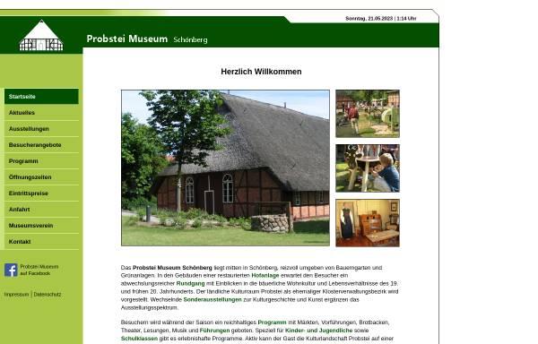Vorschau von www.probstei-museum.de, Probstei-Museum