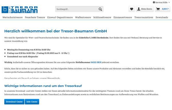 Vorschau von www.tresor-baumann.de, Tresor-Baumann GmbH
