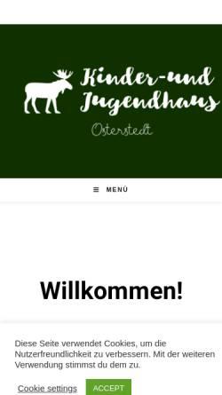 Vorschau der mobilen Webseite kinder-und-jugendhaus-osterstedt.de, Kinder- und Jugendhaus Osterstedt