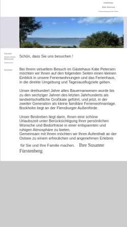 Vorschau der mobilen Webseite www.gaestehauspetersen.de, Gästehaus Käthe Petersen
