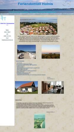 Vorschau der mobilen Webseite www.feriendomizil-holnis.de, Feriendomizil Holnis