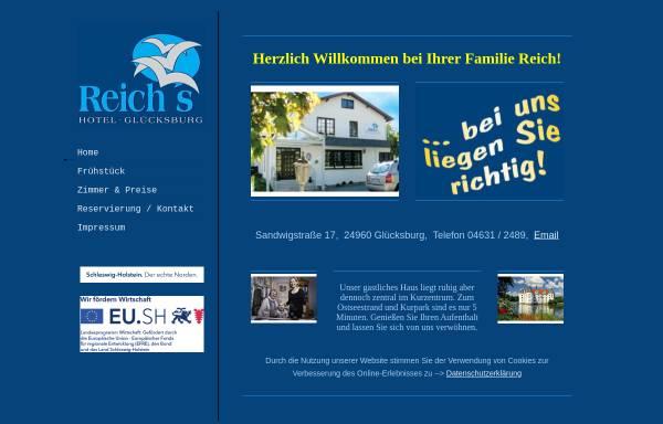 Vorschau von www.hotel-gluecksburg.de, Reichs Hotel Glücksburg