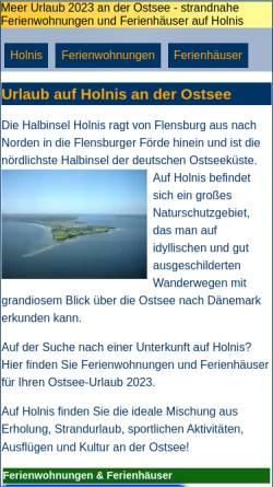 Vorschau der mobilen Webseite www.holnis.com, Holnis.com