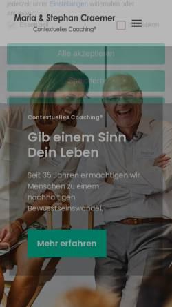 Vorschau der mobilen Webseite www.coachingacademie.de, CA CoachingAcademie GmbH