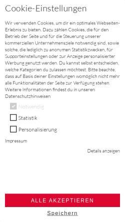 Vorschau der mobilen Webseite www.gwbi.de, Grafik Werkstatt Bielefeld