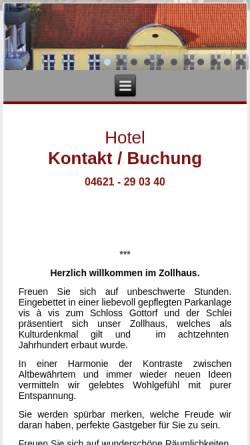Vorschau der mobilen Webseite www.zollhaus-zu-gottorf.de, Zollhaus zu Gottorf