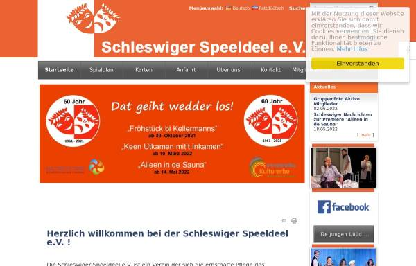 Vorschau von www.schleswiger-speeldeel.de, Schleswiger Speeldeel