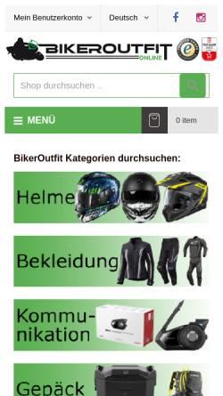 Vorschau der mobilen Webseite www.bikeroutfit.de, Biker-Outfit Jörg Claassen