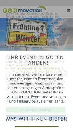 Vorschau der mobilen Webseite www.fun-promotion.de, Fun Promotion