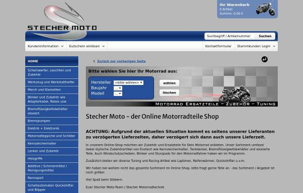 Vorschau von www.stechermoto.de, Stecher Moto