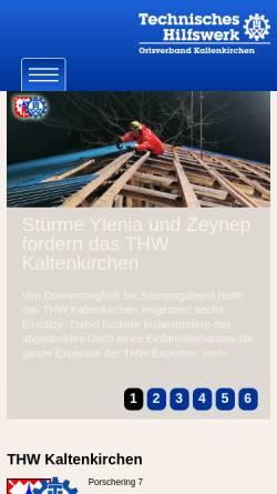 Vorschau der mobilen Webseite ov-kaltenkirchen.thw.de, THW Kaltenkirchen