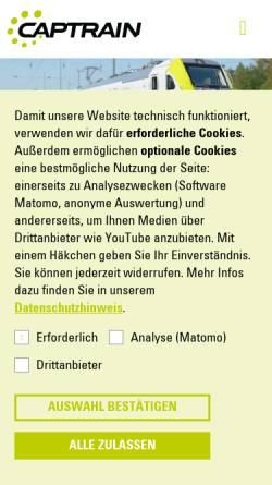 Vorschau der mobilen Webseite www.bayerischecargobahn.de, Bayerische Cargobahn GmbH