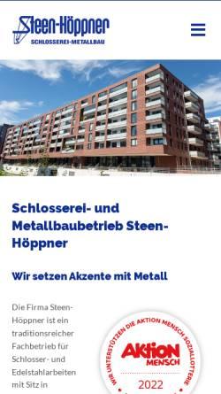 Vorschau der mobilen Webseite www.steen-hoeppner.de, Jörg Steen-Höppner Schlosserei und Metallbau
