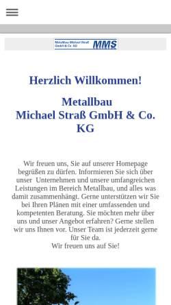 Vorschau der mobilen Webseite www.mms-kaltenkirchen.de, Metallbau Michael Straß GmbH & Co. KG