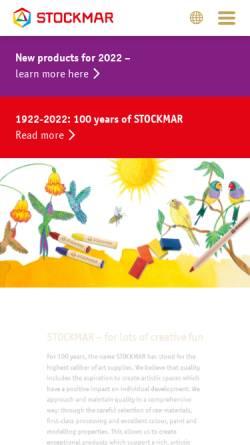 Vorschau der mobilen Webseite www.stockmar.de, Hans Stockmar GmbH & Co. KG