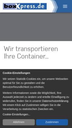 Vorschau der mobilen Webseite www.boxxpress.de, Boxxpress.de GmbH