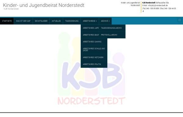 Vorschau von www.kjb-norderstedt.de, Kinder- und Jugendbeirat Norderstedt