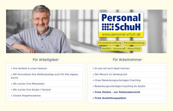Vorschau von www.personal-schuh.de, Personal Schuh