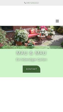 Vorschau der mobilen Webseite www.mauundmau.de, Mau & Mau OHG